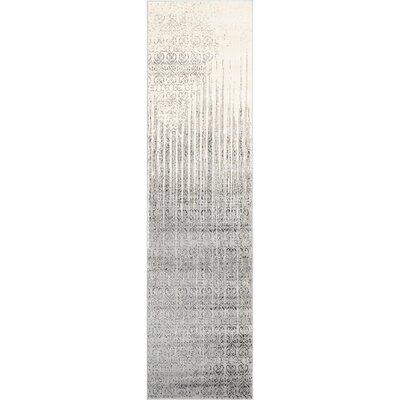 Deniece Gray Area Rug Rug Size: Runner 27 x 10
