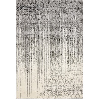 Deniece Gray Area Rug Rug Size: Rectangle 4 x 6