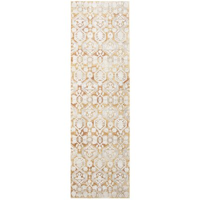 Bray Traditional Gold/Beige Area Rug Rug Size: Runner 3 x 10