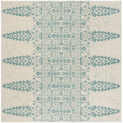 Elson Ivory/Teal Area Rug Rug Size: Square 67