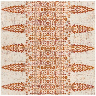 Elson Ivory/Gold Area Rug Rug Size: Square 67