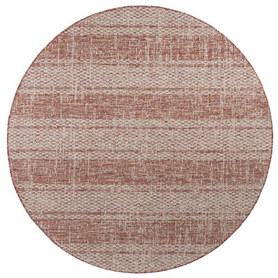 Myers Light Indoor/Outdoor Area Rug Rug Size: Round 67