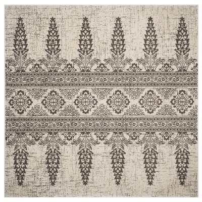 Elson Ivory/Silver Area Rug Rug Size: Square 67