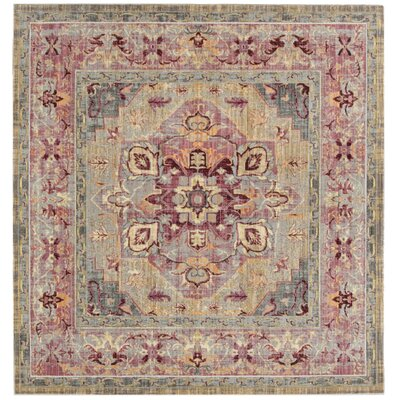 Norwood Grape/Blue Area Rug Rug Size: Square 67