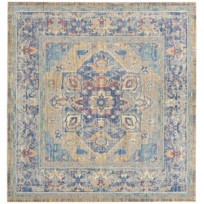 Norwood Blue/Beige Area Rug Rug Size: Square 67