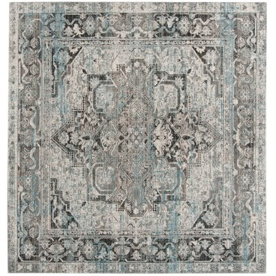 Norwood Oriental Blue/Gray Area Rug Rug Size: Square 67