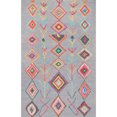 Dayne Hand-Tufted Gray Area Rug Rug Size: Rectangle 6 x 9