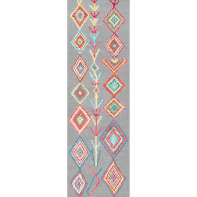 Dayne Hand-Tufted Gray Area Rug Rug Size: Runner 26 x 12
