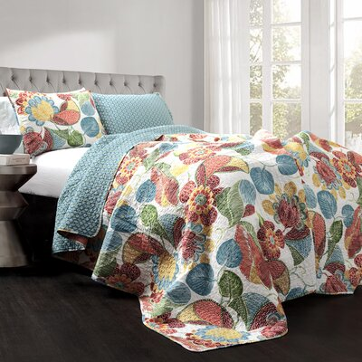 Carnuel 3 Piece Reversible Coverlet Set Size: Queen MTNA2589 40417756