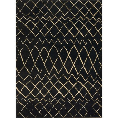 Petit Borendy Black Indoor Area Rug Rug Size: Rectangle 53 x 73