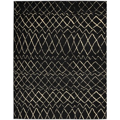 Petit Borendy Black Indoor Area Rug Rug Size: Rectangle 710 x 910