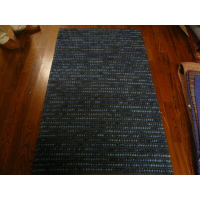 Makhi Hand-Knotted Dark Blue Area Rug Rug Size: Runner 26 x 6