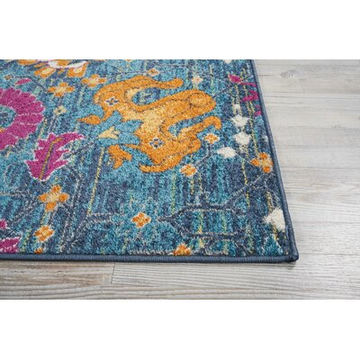 Parsons Denim Indoor Area Rug Rug Size: Rectangle 110 x 210