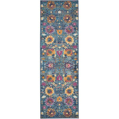 Parsons Denim Indoor Area Rug Rug Size: Runner 11 x 6