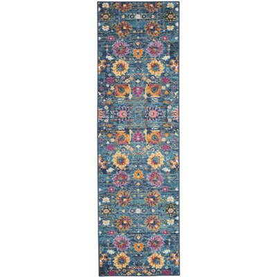 Parsons Denim Indoor Area Rug Rug Size: Runner 22 x 76