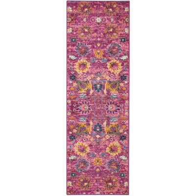 Parsons Fuchsia Indoor Area Rug Rug Size: Runner 11 x 6
