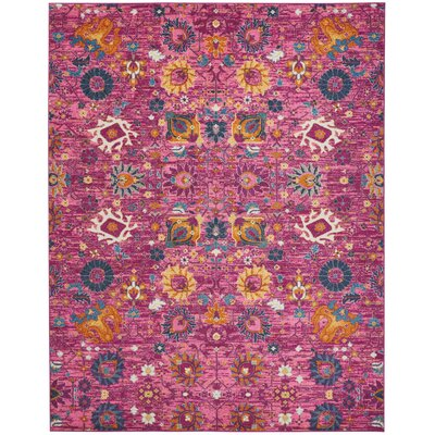 Parsons Fuchsia Indoor Area Rug Rug Size: Rectangle 67 x 96