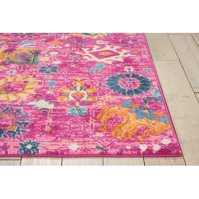 Parsons Fuchsia Indoor Area Rug Rug Size: Rectangle 110 x 210