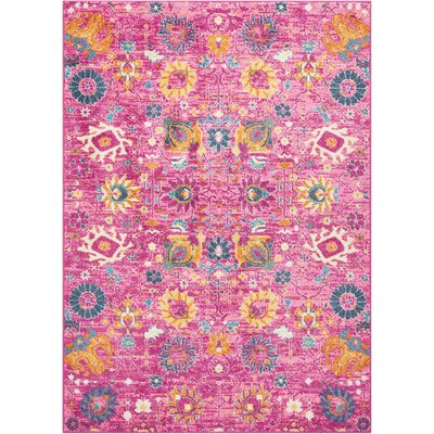 Parsons Fuchsia Indoor Area Rug Rug Size: Rectangle 53 x 73