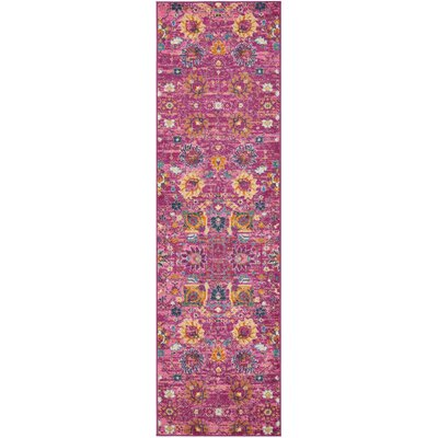 Parsons Fuchsia Indoor Area Rug Rug Size: Runner 22 x 76