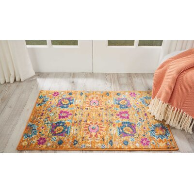 Parsons Yellow Indoor Area Rug Rug Size: Rectangle 67 x 96