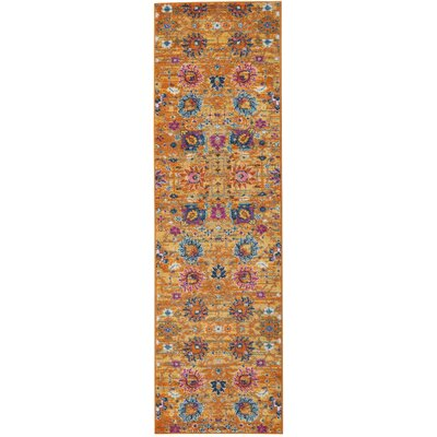 Parsons Yellow Indoor Area Rug Rug Size: Runner 22 x 76