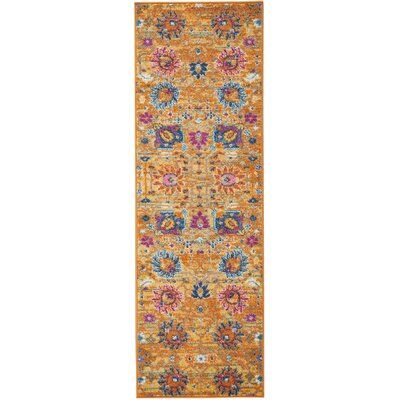 Parsons Yellow Indoor Area Rug Rug Size: Runner 11 x 6