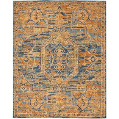 Shez Teal/Sun Indoor Area Rug Rug Size: 8 x 10