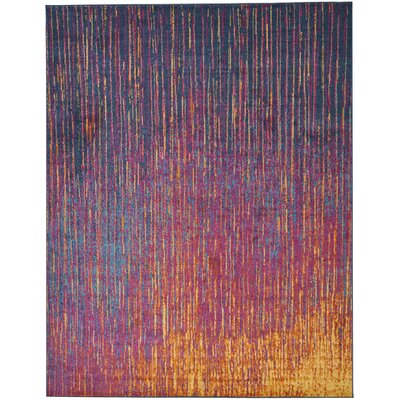 Parsons Pink/Purple Indoor Area Rug Rug Size: Rectangle 8 x 10