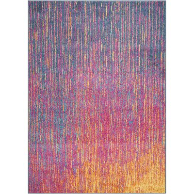 Parsons Pink/Purple Indoor Area Rug Rug Size: Rectangle 53 x 73