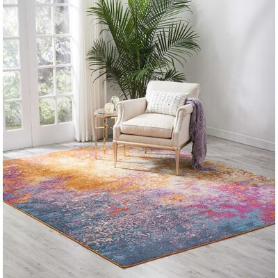 Parsons Pink/Yellow Indoor Area Rug Rug Size: Rectangle 8 x 10