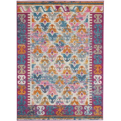 Parsons Ivory Indoor Area Rug Rug Size: Rectangle 53 x 73