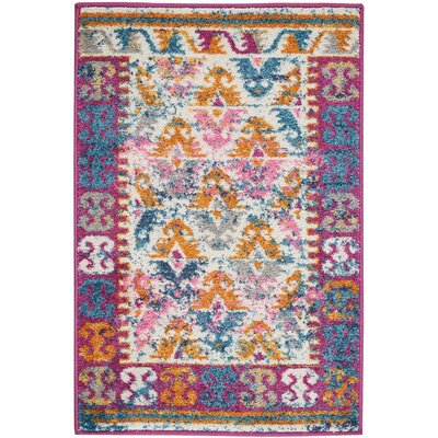 Parsons Ivory Indoor Area Rug Rug Size: Rectangle 110 x 210