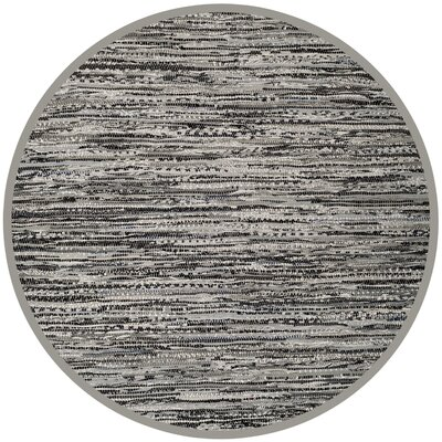 Coffey Hand-Woven Gray Area Rug Rug Size: Round 4