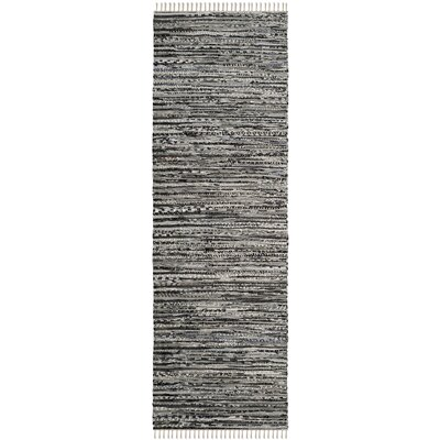 Coffey Hand-Woven Gray Area Rug Rug Size: Runner 23 x 10