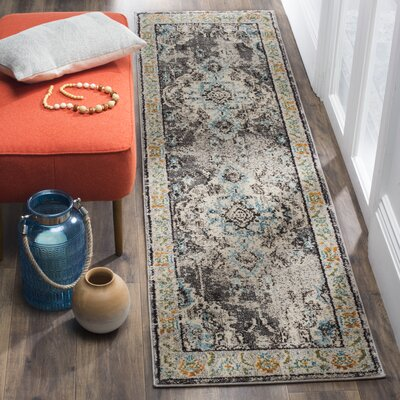 Newburyport Grey & Silver Area Rug Rug Size: Runner 22 x 18