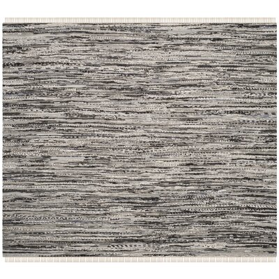 Coffey Hand-Woven Gray Area Rug Rug Size: Square 4