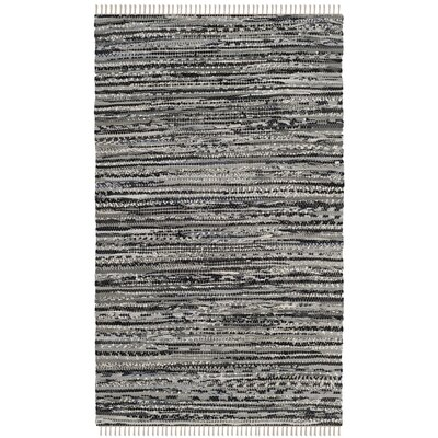 Coffey Hand-Woven Gray Area Rug Rug Size: Rectangle 2 x 3