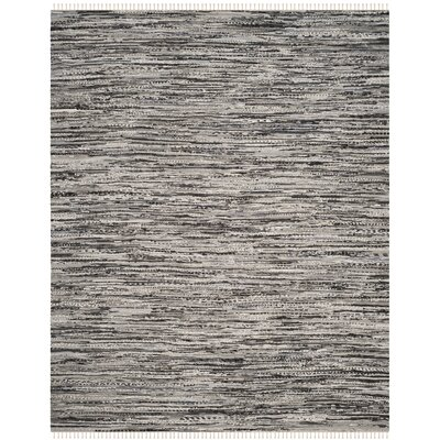 Coffey Hand-Woven Gray Area Rug Rug Size: Rectangle 9 x 12
