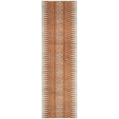 Elson Ivory/Orange Area Rug Rug Size: Runner 22 x 11