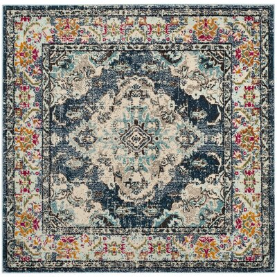 Newburyport Navy/Light Blue Area Rug Rug Size: Square 67
