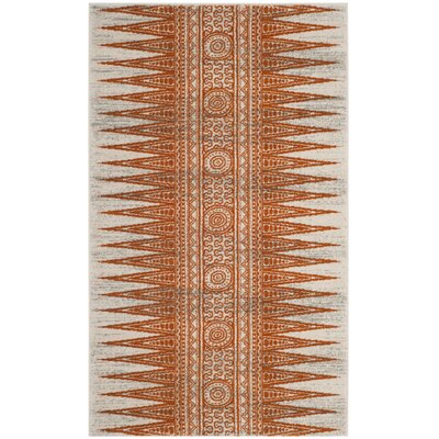 Elson Ivory/Orange Area Rug Rug Size: Rectangle 22 x 4