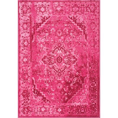 Decker Pink Area Rug Rug Size: Rectangle 67 x 9