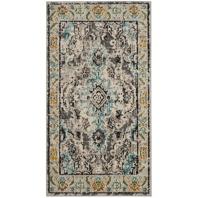Newburyport Grey & Silver Area Rug Rug Size: Rectangle 22 x 4