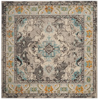 Newburyport Grey & Silver Area Rug Rug Size: Square 5