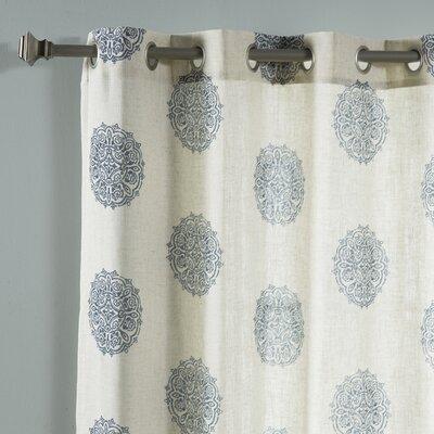 Carney Medallion Geometric Sheer Grommet Curtain Panels MTNA1545 40376609