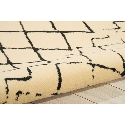 Petit Borendy Cream/Black Indoor Area Rug Rug Size: Rectangle 710 x 910