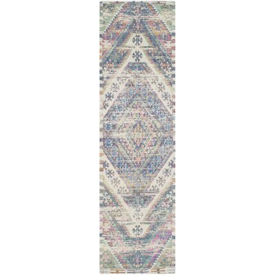 Myers Hand-Loomed Royal Blue/Fuchsia Area Rug Rug Size: Runner 23 x 8