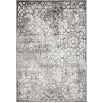 Brandt Dark Gray Area Rug Rug Size: Rectangle 6' x 9'