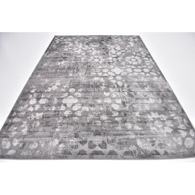 Brandt Dark Gray Area Rug Rug Size: Rectangle 7' x 10'
